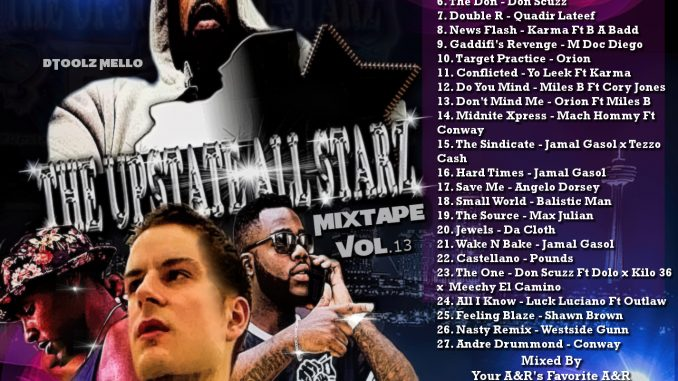 The Upstate Allstarz Hip Hop and R&B Mixtape Vol.13