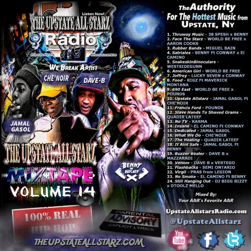 Upstate Allstarz Mixtape Vol .14 - UpstateAllstarzRadio