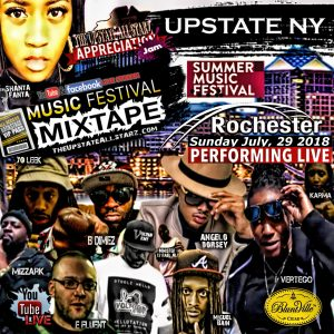 Upstate NY Music Fest Mixtape Cover